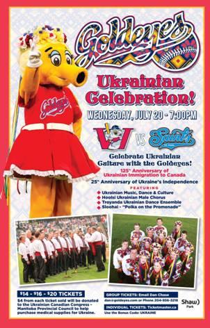 Goldeyes Baseball Ukrainian Celebration @ Shaw Park