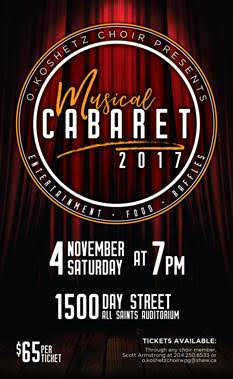 """Koshetz Musical Cabaret 2017"" @ All Saints Ukrainian Orthodox Church Hall | Winnipeg | Manitoba | Canada"