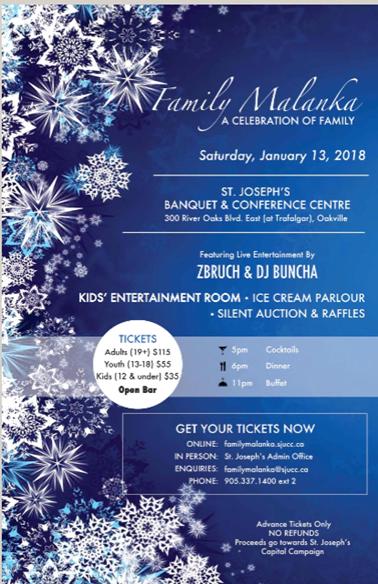 Family Malanka: St Joseph's Ukrainian Catholic Church @ St Joseph's Banquet Hall   Oakville   Ontario   Canada