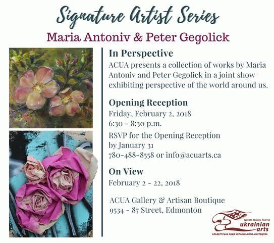 "Signature Artist Series: ""In Perspective"" - Opening Reception @ ACUA Gallery   Edmonton   Alberta   Canada"